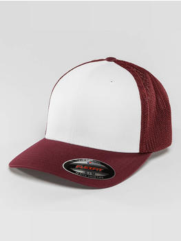 Flexfit Flexfitted Cap Mesh Colored Front red (UC6511CFMARWHT)