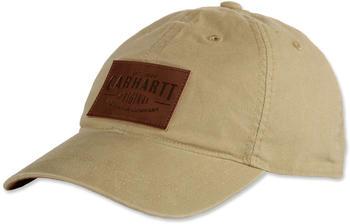 Carhartt Rigby Stretch Fit Leatherette Patch Cap dark khaki