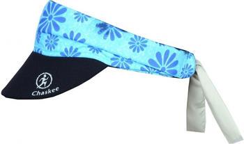 Chaskee Visor Snap Cap Happy Flowers light blue
