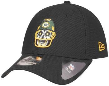 New Era 39Thirty Diamond Cap Skull Green Bay Packers