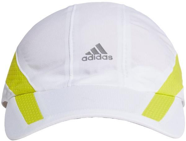 Adidas Aeroready Retro Tech Reflective Runner Cap M/L white/acid yellow/black reflective