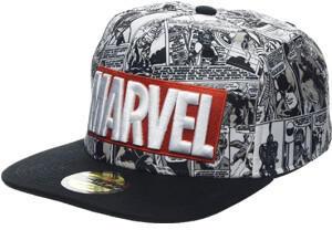 Marvel Comics Marvel Logo & Comic Pattern Snapback Cap