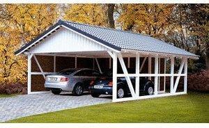 Skan Holz Fachwerk-Carport (231102)