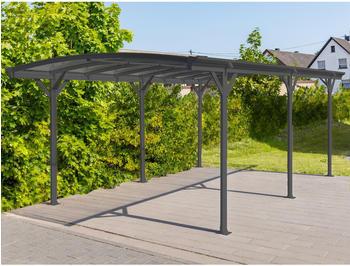 Westmann Rundbogen Carport 17 m² anthrazit