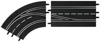 Carrera Digital 124 - Spurwechselkurve Links innen nach außen