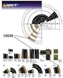 ScaleXtric Außenrandstreifen R4 22.5° (C8238)
