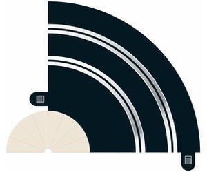 ScaleXtric Haarnadel Kurve R1 90° (C8201)