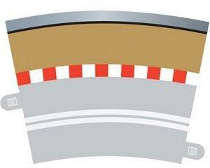 ScaleXtric Single Lane Radius 3 Kurven Außenrandstreifen 22.5° x 4 (C7019)