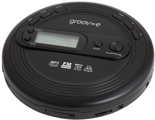 Groov-e Personal CD Player with FM Radio MP3