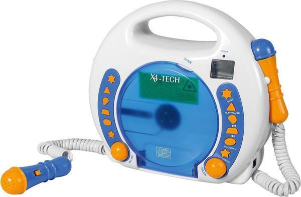 X4-Tech BobbyJoey MP3 CD-Player weißblau