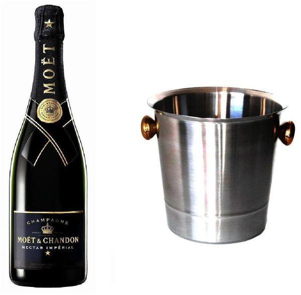 Moët & Chandon Nectar Impérial mit Champagnerkühler 0,75l