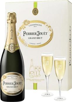 Perrier-Jouët Grand Brut 0,75l in GP mit 2 Gläsern