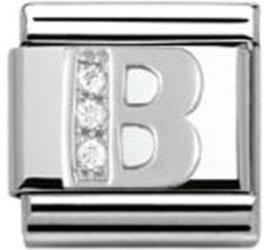 Nomination Buchstabe B silber (330301/02)