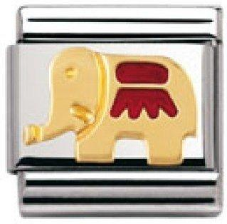 Nomination Basiselement Elefant rot bicolor (030212/21)