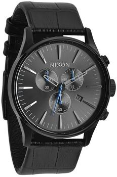Nixon The Sentry Chrono Leather black gator (A405-1886)