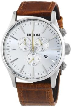 Nixon The Sentry Chrono Leather saddle gator (A405-1888)