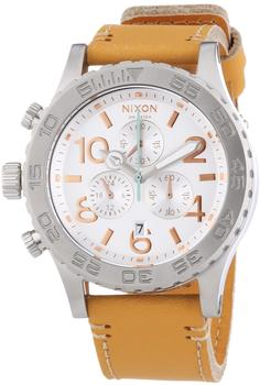 Nixon The 42-20 Chrono Leather Natural/Silver