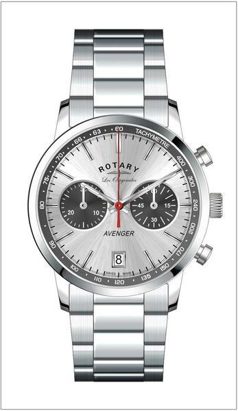 Rotary Herren - Armbanduhr Avenger Chronograph Quarz GB90130/06