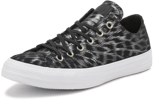 Converse Chuck Taylor All Star Shimmer Suede Ox - black/black/white