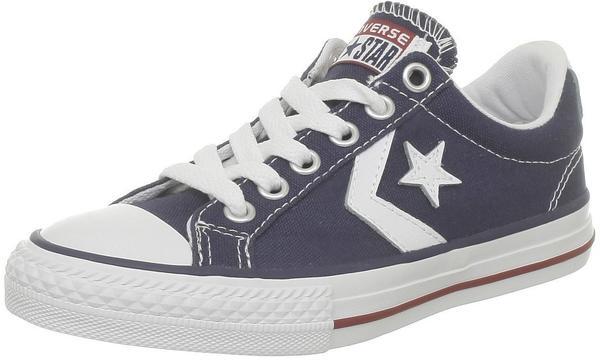 Converse Star Player Canvas Ev Ox Kids -navy/white