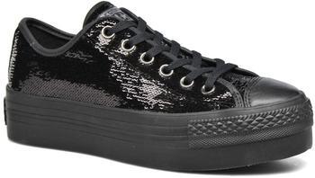 Converse Chuck Taylor All Star Platform Ox - black/black/black