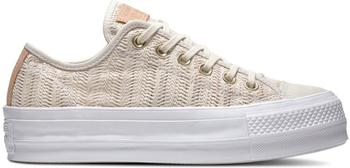 Converse Chuck Taylor All Star Lift Herringbone Mesh Ox driftwood/driftwood/white