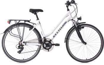 KS-CYCLING Metropolis 28 Zoll RH 48 cm Flachlenker Damen weiß/schwarz