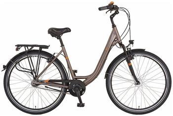 prophete-citybike-damen-alu-city-geniesser-87-29-zoll-7-gang-rohrgepaecktraeger-braun-71-12-cm-28-zoll