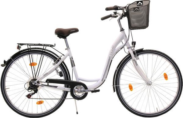 FASHION LINE Cityrad 26 Zoll RH 43 cm Damen 6-Gang weiß