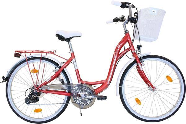 FASHION LINE Cityrad, 21 Gang Shimano TY 300 Schaltwerk, Kettenschaltung rosa 26 Zoll (66,04 cm)