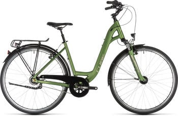"Cube Town Pro Easy Entry GreennSilver 45cm (28"") 2019 Citybikes"
