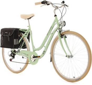 KS-CYCLING Verona 28 Zoll RH 54 cm 6-Gang Damen grün mit Doppeltasche