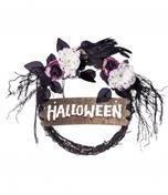 VIVING COSTUMESJUINSA Halloween Türkranz Halloween-Deko schwarz-weiß-rot 34 cm Einheitsgröße