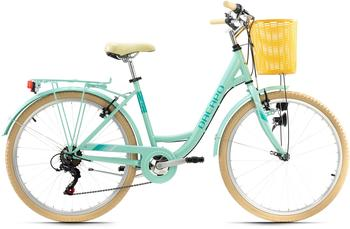 KS-CYCLING KS Cycling Cityrad Cantaloupe, 6 Gang Shimano Tourney Schaltwerk, Kettenschaltung