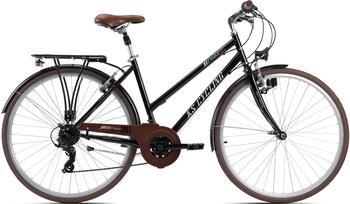 KS-CYCLING Venice 28 Zoll RH 48 cm Flachlenker Damen schwarz