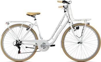 """KS-CYCLING KS Cycling Cityfahrrad 28"""" Swan weiß mit Frontgepäckträger"""