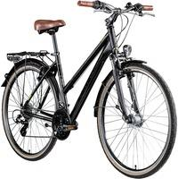 Zündapp T700 Damen Fahrrad Trekking 28 Zoll Trekkingfahrrad StVZO... schwarz, 45 cm)