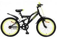 LeNoSa Kinderfahrrad Full Suspension Mountainbike 20 Zoll Junior Felgenbremse Schwarz,