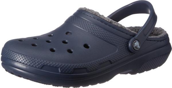 Crocs Classic Fuzz Lined Clog navy/charcoal