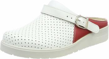 Berkemann Tec-Pro-Brage white/red/leather perforated