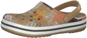 Crocs Crocband Botanical Print Clog tan/white