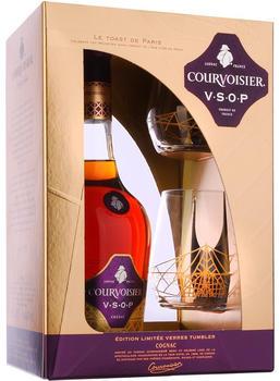 Courvoisier VSOP 40% 0,7l Geschenkset mit 2 Gläsern