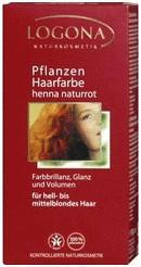 Logona Pflanzen-Haarfarbe Henna Naturrot (100 g)