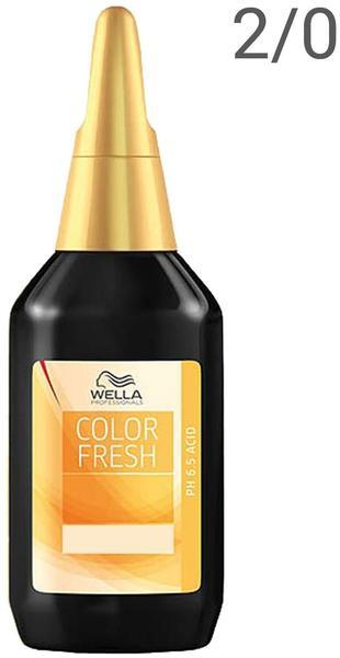 Wella Color Fresh Liquid 2/0 schwarz (75 ml)