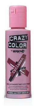 Crazy Color Semi-Permanent Hair Color Cream - Cyclamen (100 ml)