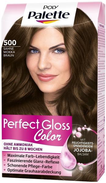 Schwarzkopf Poly Palette Perfect Gloss Color Tönung 500 Sahne Mokka Braun
