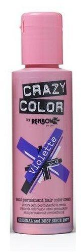 Crazy Color Semi-Permanent Hair Color Cream - Violette (100 ml)