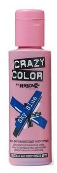 Crazy Color Semi-Permanent Hair Color Cream - Sky Blue (100 ml)