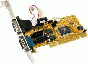 Exsys 2S Seriell RS-232 PCI Karte MosChip (EX-41052)