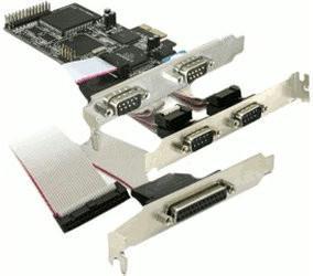 DeLock 5-Port PCI-E RS-232 Parallel (89177)